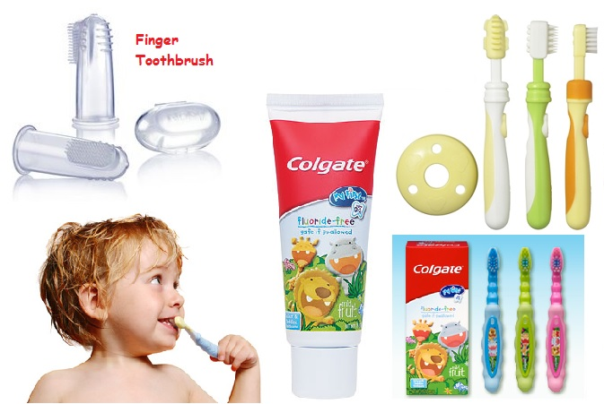 Toothbrush and Toothpaste for babies -- family dentist in Mississauga