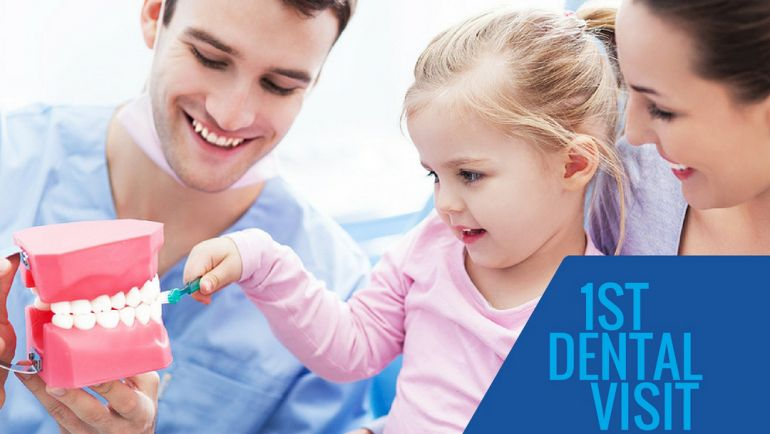Toddler's first visit to St. Lawrence Dentistry