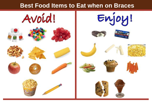 foods avoid wearing braces