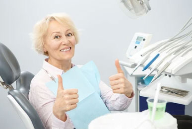 happy senior dental patient