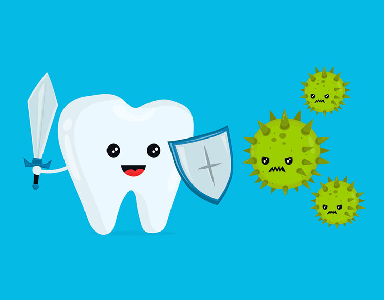 tooth vs bacteria