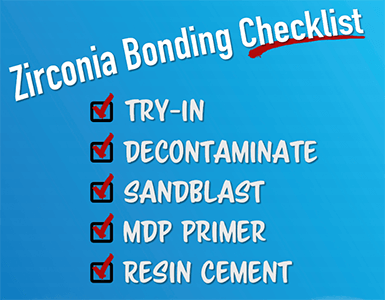 zirconia boding checklist