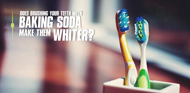 brushing your teeth with baking soda